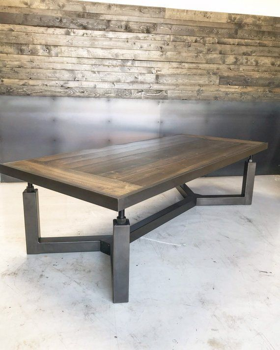Hemlock Table Mobilier De Salon Table Basse Bois Meuble Bois Metal