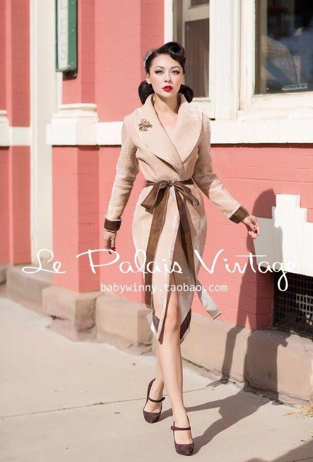 le palais vintage裸色天鹅绒加厚包裹式蝴蝶结修身外套 1.15