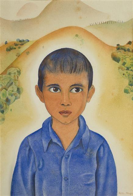 Head Of A Māori Boy, 1951, New Zealand, by artist Rita Angus.