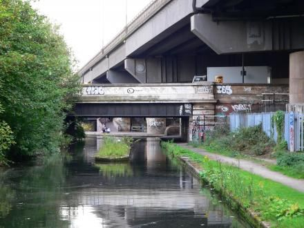 How Salford Bridge now looks at Spaghetti Junction.
