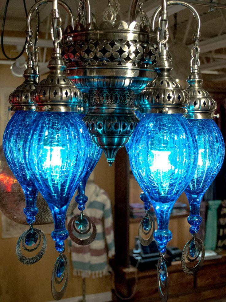 Cracked glass pendant chandeliers