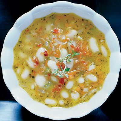White-Bean Soup with Bacon and Herbs