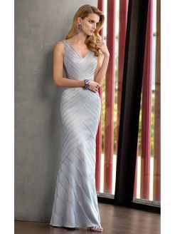 Ivory Mermaid Floor-length V-neck Dress
