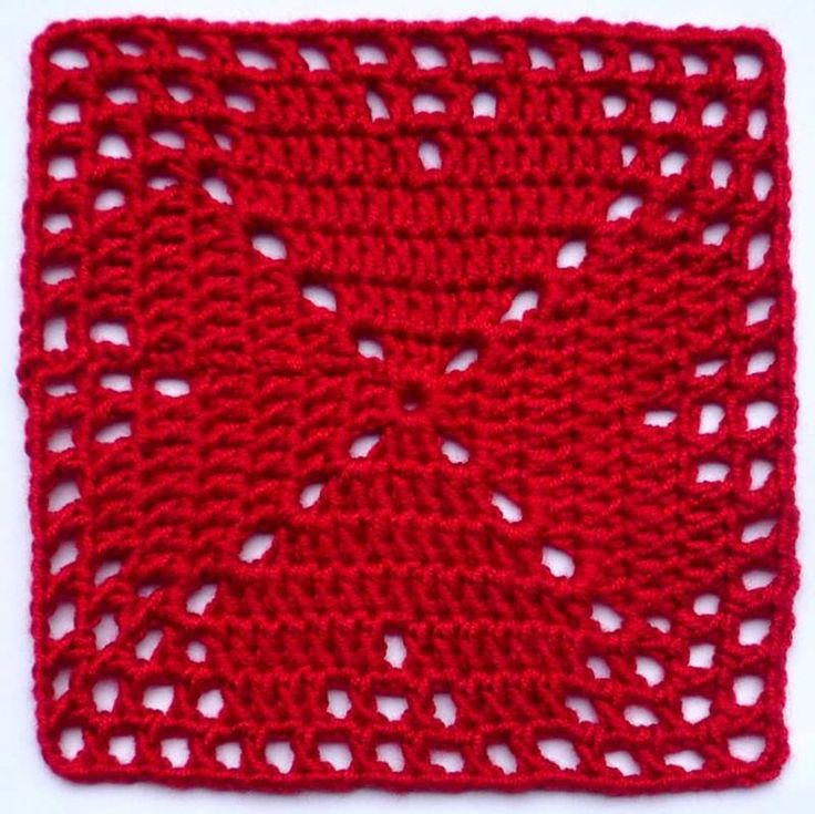 4-harten granny square « Blij met Draadjes Pinning this even though it's in German. So cute!