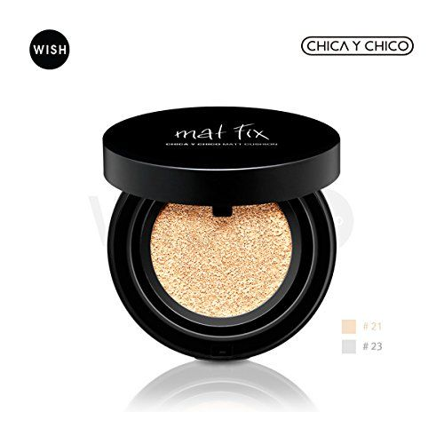 CHICA Y CHICO Matt Cushion 15g, Natural coverage without greasy face, strong oil blotting, SPF 35 PA   (No. 21 (Light Beige)) ** This is an Amazon Affiliate link. Click image for more details.