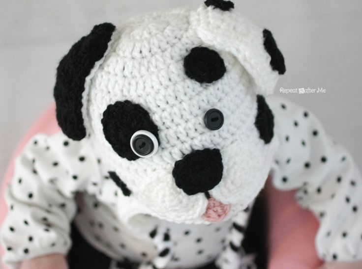Repeat Crafter Me: Crochet Dalmatian Dog Pattern Knit & Crochet Baby an...