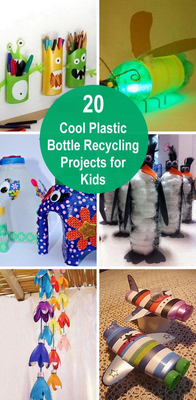 20 coole Recyclingprojekte für Plastikflaschen für Kinder.