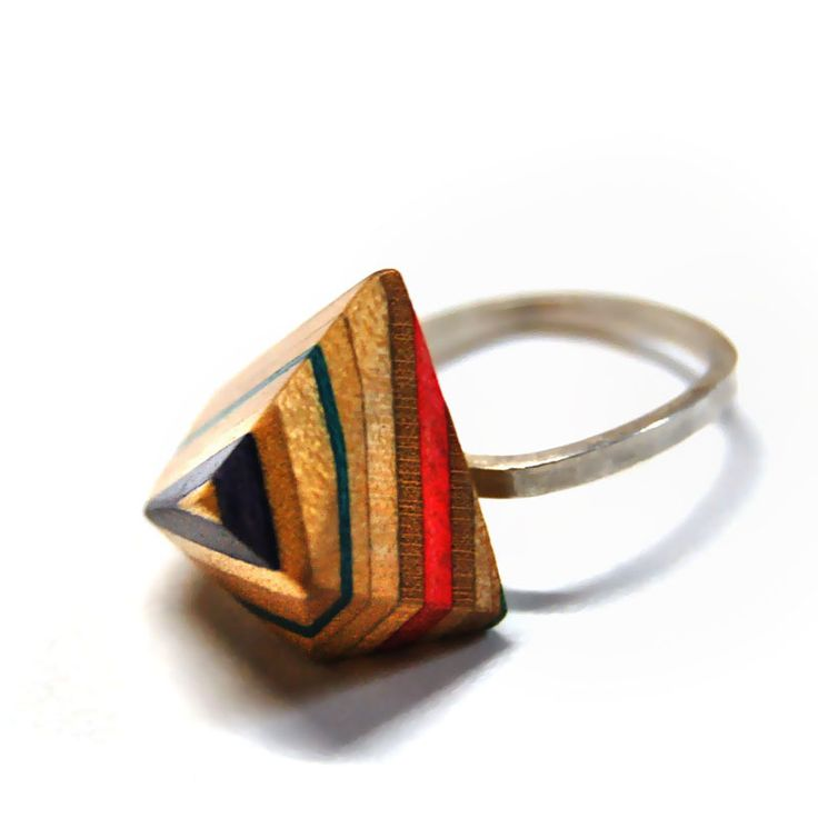 Gorgeous Tor #Ring from MapleXO, made from #recycled skateboards.