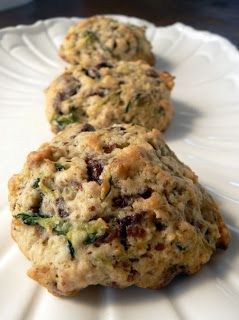 Chocolate Zucchini Oatmeal Cookies...pretty close recipe to what Judy Zok gave me, and they were YUMMY!!!!