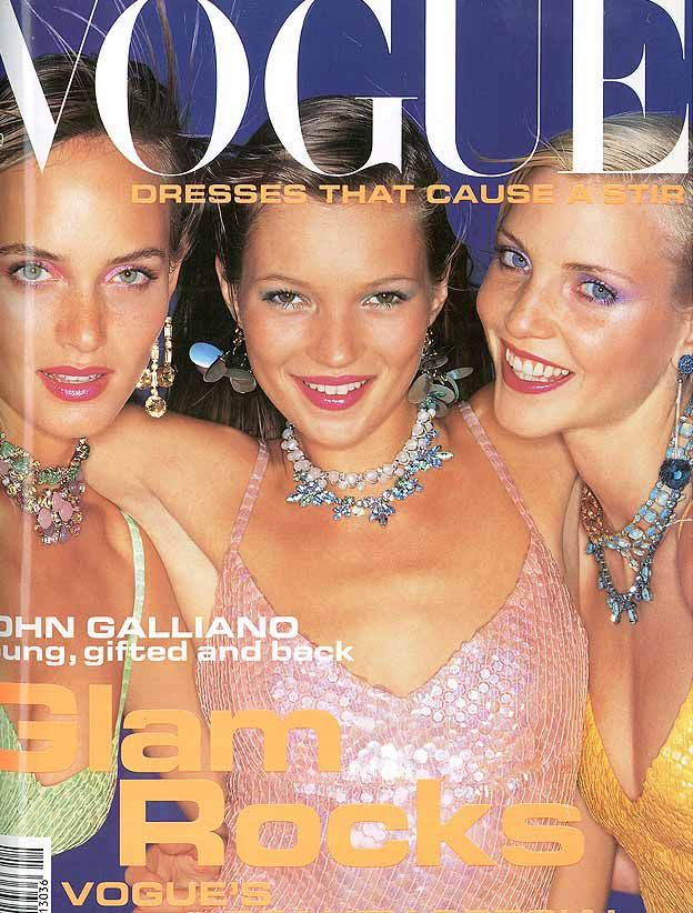 Kate Moss British Vogue Cover December 1994