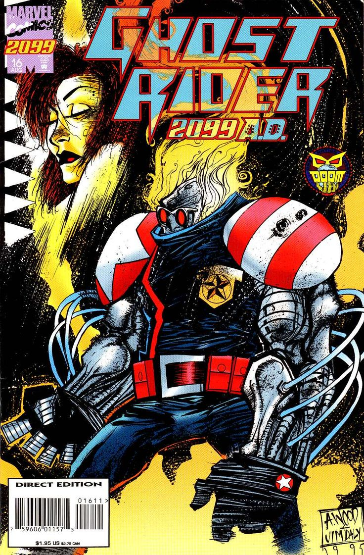 Ghost rider 2099 vol 1 16 cover art by ashley wood