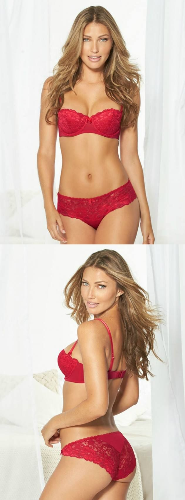 We love this red hot bra, and wearing it with the matching panties makes this a no-brainer.