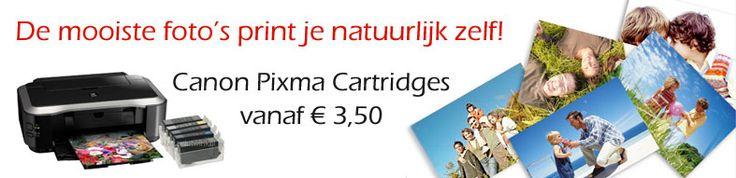 De mooiste foto's print je natuurlijk zelf! Canon Pixma cartridges speciale bundel acties!