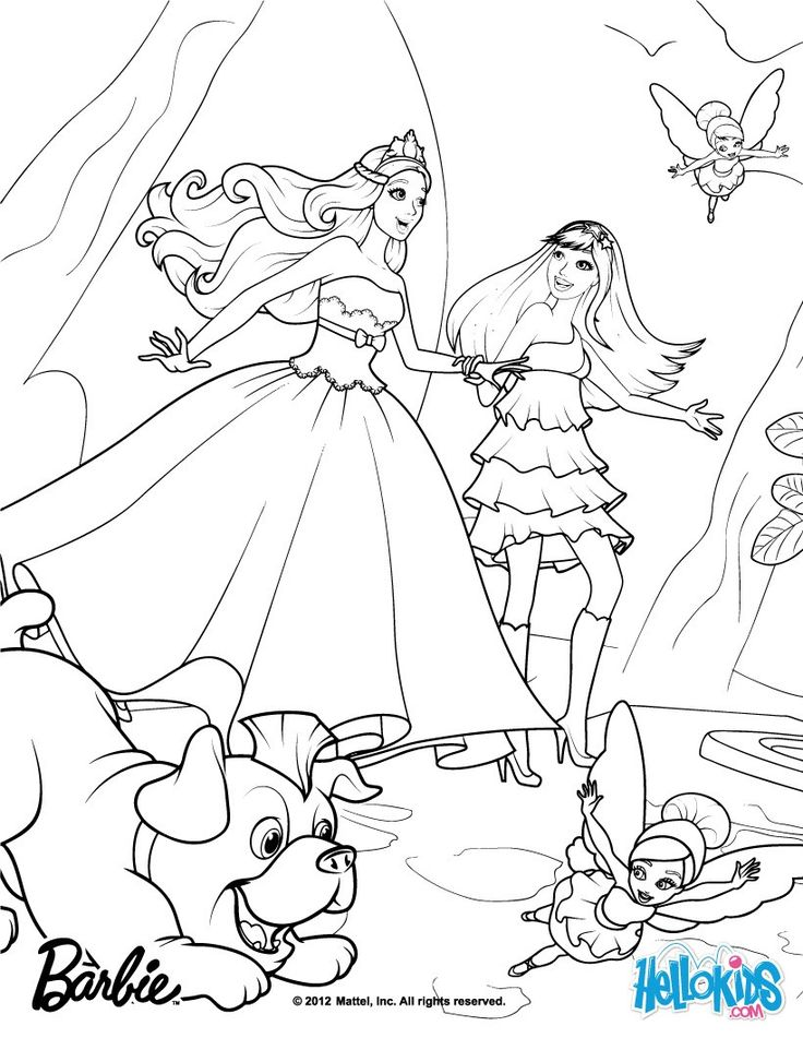 Barbie THE PRINCESS & THE POPSTAR coloring pages - Tori ...