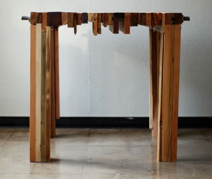 reclaimed wood furniture plans. parsons table crafted from 100 salvaged and repurposed wood this one of reclaimed furniture plans