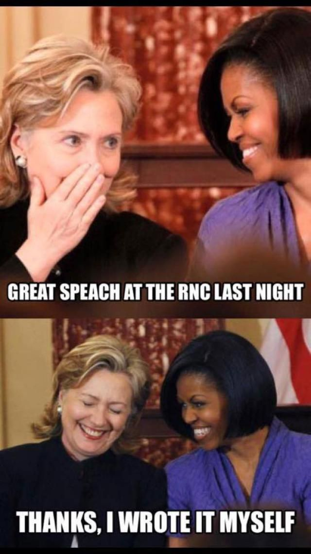 Funniest Memes Mocking Melania Trump's Plagiarized GOP Convention Speech: Great Speech at the RNC