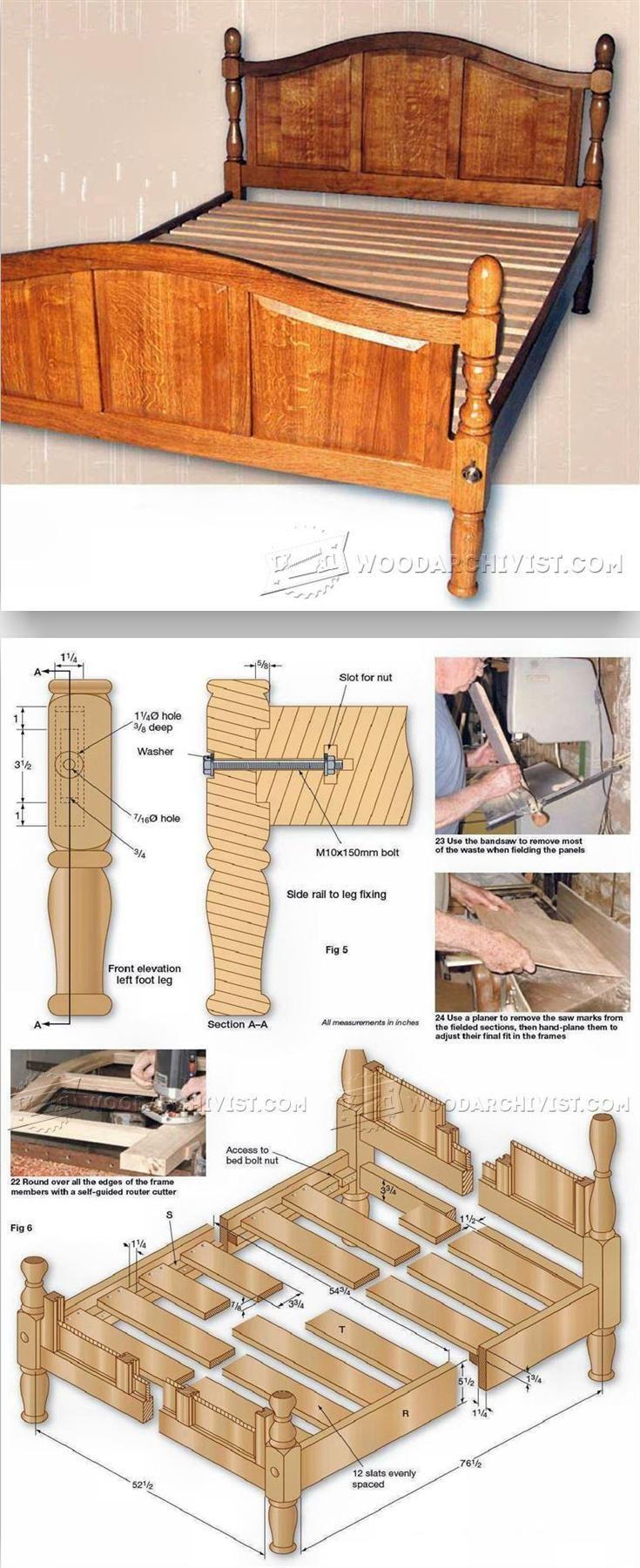 Oak Bed Plans - Furniture Plans and Projects   WoodArchivist.com
