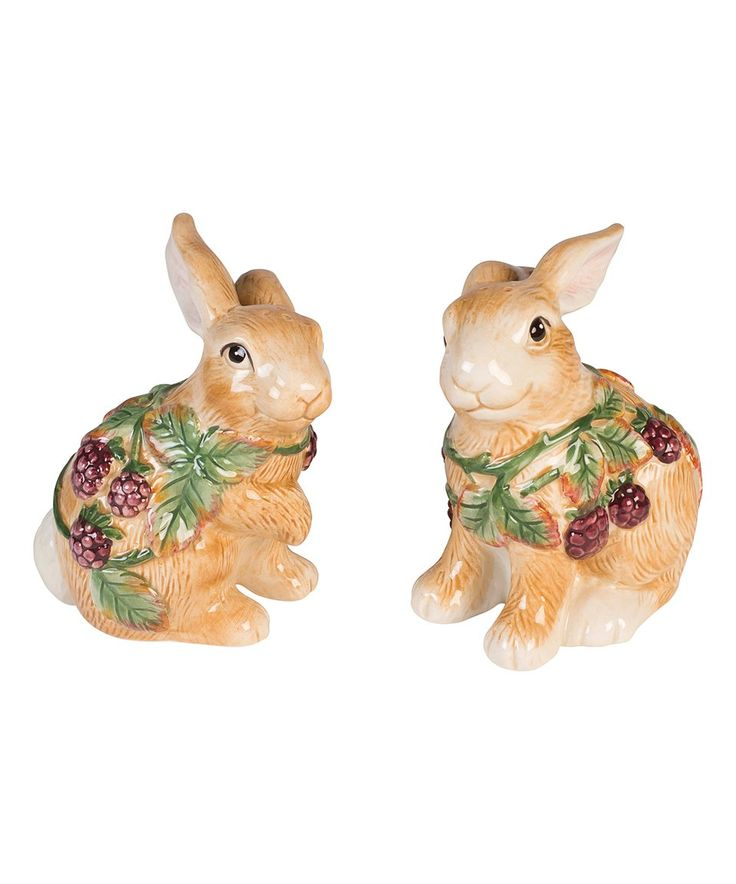 Take a look at this Fitz and Floyd | Blackberry Rabbit Salt & Pepper Set today!
