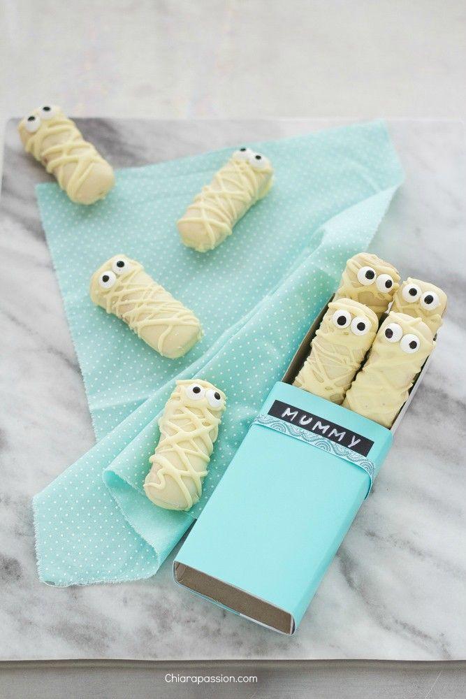 Biscotti Halloween: Mummie di pavesini | Chiarapassion