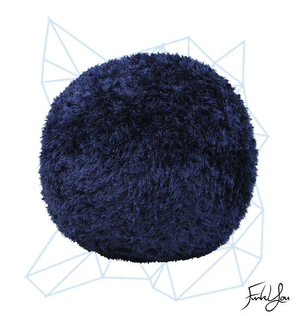 Fuzz Ottoman - Blue www.funkyou.com.au