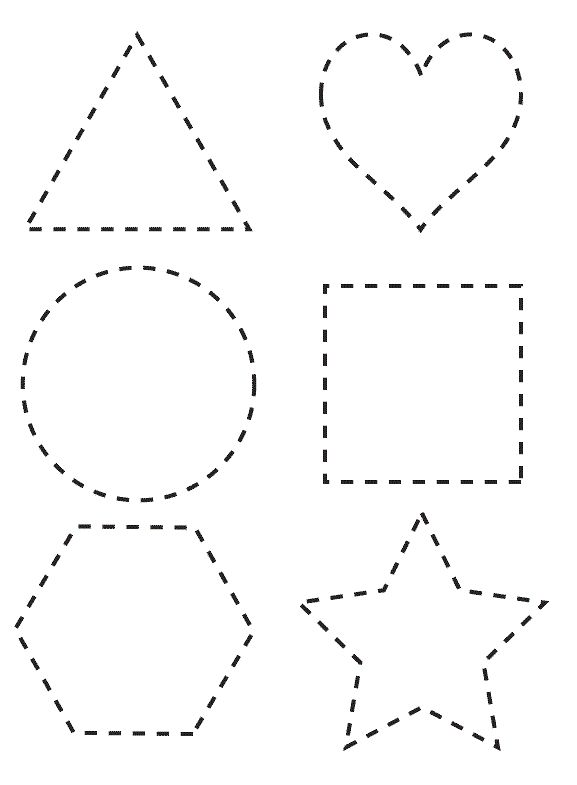 Effortless image regarding printable shape templates