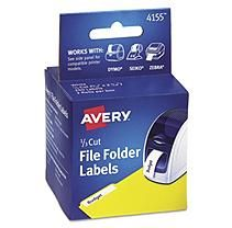 Avery - Thermal Printer Labels, 1/3 Cut File Folder, White, 130/Roll -  2 Rolls/Box