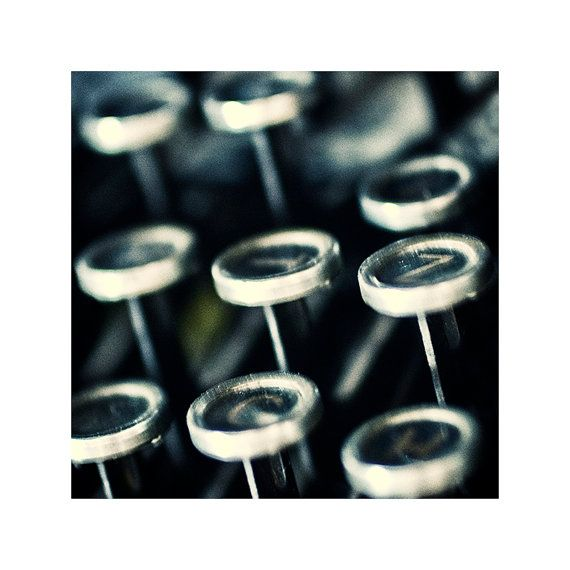 Old typewriter / Fine art photography / Close-up photograph / Home decor print / Old memories
