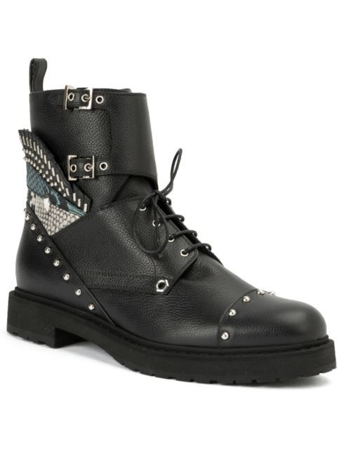 Fendi армейские ботинки с заклепками