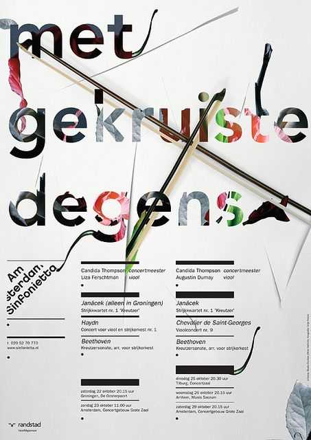 Amsterdam Sinfonietta - poster exhibition in Shanghai - 28-29th of August, 2010 by Studio Dumbar, via Flickr