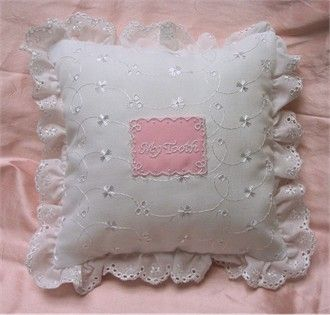 Eyelet Tooth Fairy Pillow for Girls