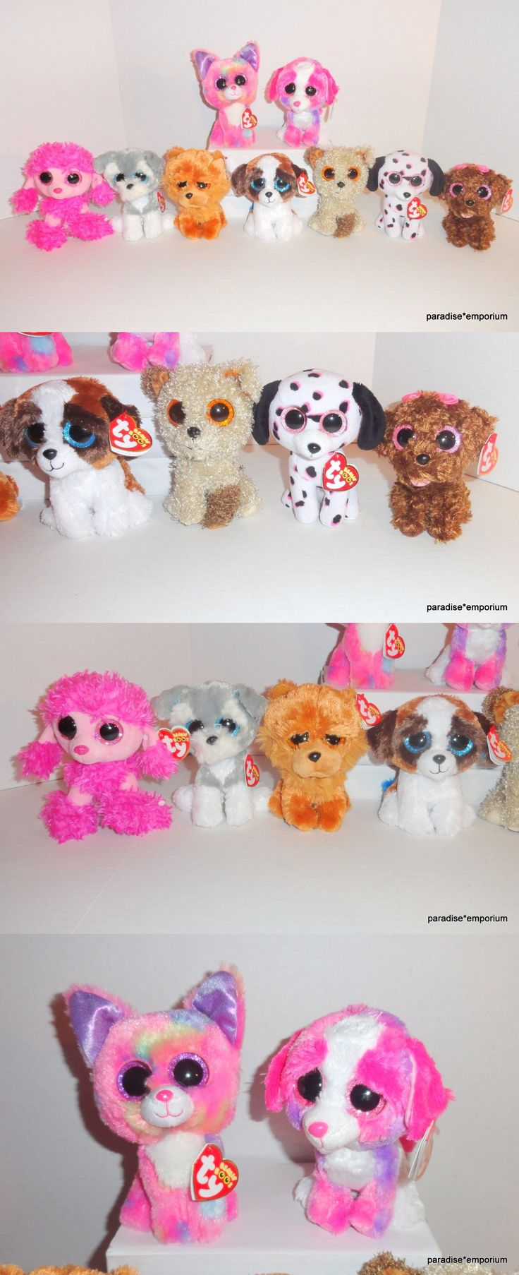 Other Ty Beanbag Plush 1037: New Ty Beanie Boos Dog Plush Set Lot Duke Cancun Sherbert Georgia Barley P57 -> BUY IT NOW ONLY: $48.95 on eBay!