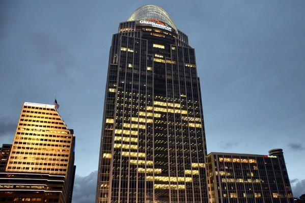 Great American Tower, Cincinnati Reds Opening Night