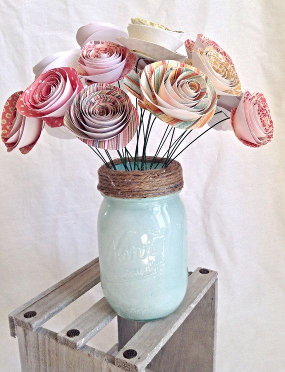 These colorful paper flowers would make a lovely wedding bouquet that you can keep forever!