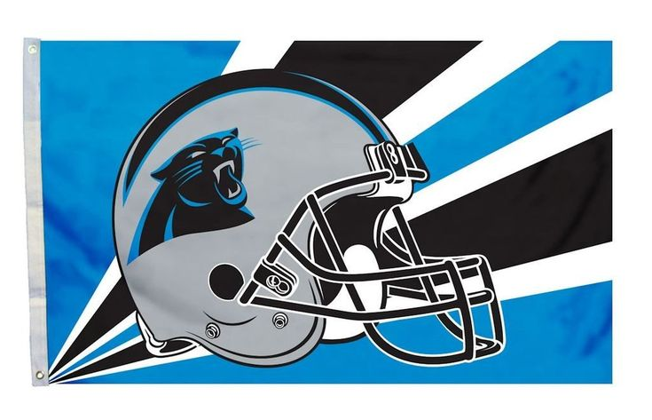 Carolina Panthers Flag 3x5 Helmet Design