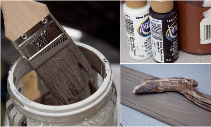 Make driftwood yourself: recipe, instructions and before-and-after pictures
