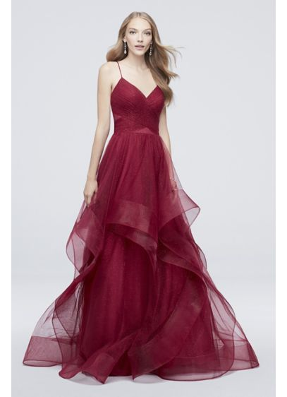 adf3a95273 Horsehair-Trimmed Glitter Tulle Ball Gown 1811P5849J