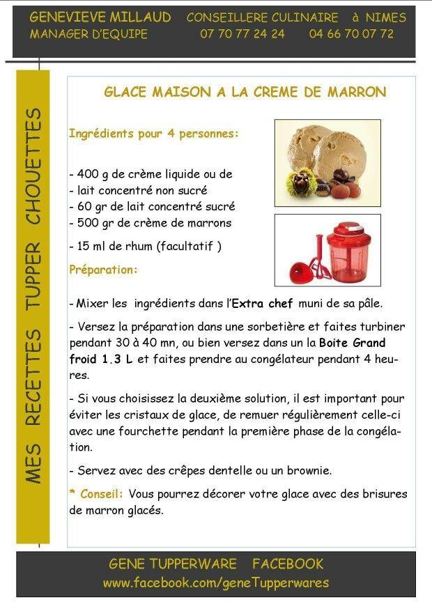 Glace crème marron - Tupperware