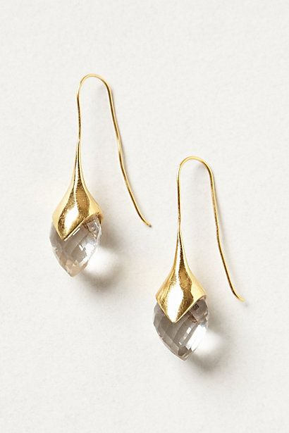 Crystallized Water Drops #anthropologie #anthrofave - they remind me of calla lilies