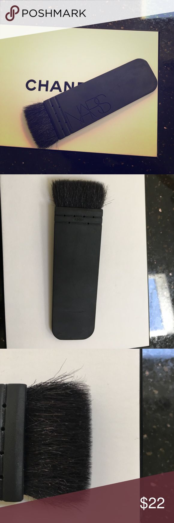 NARS Kabuki Ita Brush - contour. Sephora - A premium brush designed to define for your most distinct makeup looks. The striking silhouette is designed to create targeted contouring & strong, sculpted cheeks w/a soft-to-the-touch handle. Used but in great condition! LOVE this brush for getting that amazing sculpted look!However I just purchased a new Artis set & so I'm parting with this. Purchased @Sephora for $55. Yes it sheds, it's made of goat hair. Has been cleansed and sanitized but will…