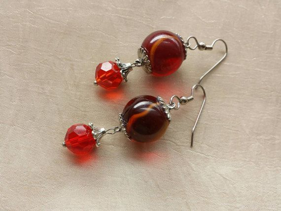 Check out this item in my Etsy shop https://www.etsy.com/listing/232605898/january-birthstone-red-garnet-earrings