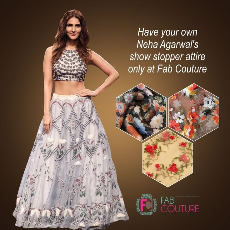 Get your own Neha Agarwal's show stoppers attire only  with FabCouture. #NehaAgarwal Grab your fabric at: https://fabcouture.in/ . #FabCouture! #DesignerFabric at #AffordablePrices  #DesignerDresses #Fabric #Fashion #DesignerWear #ModernWomen #DesiLook #Embroidered #WeddingFashion #EthnicAttire #WesternLook #affordablefashion #GreatDesignsStartwithGreatFabrics #LightnBrightColors #StandApartfromtheCrowd #EmbroideredFabrics