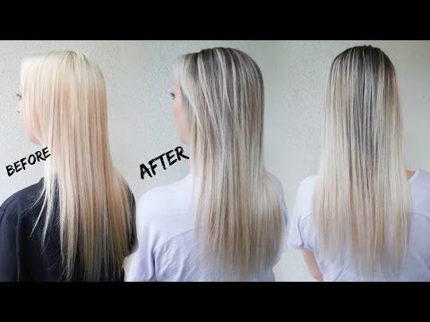 How to Reverse Balayage A.K.A. Smudge Root | Ft. Redken Blur Brush - YouTube