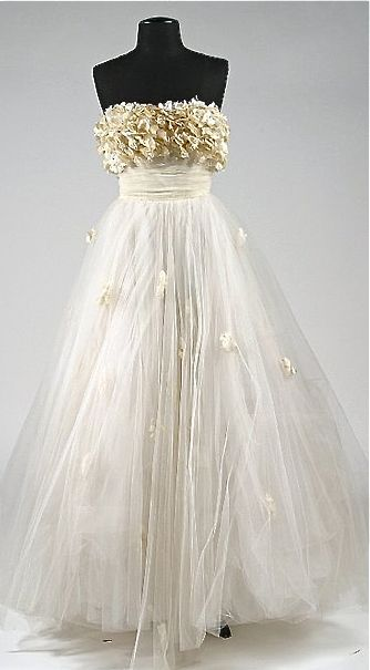 """Edith Head Designed Gown for Elizabeth Taylor's Character in """"A Place in the Sun"""" (1951)"""