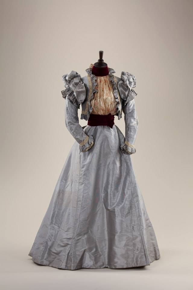 fripperiesandfobs:  Day dress, 1890's From the collection of Alexandre Vassiliev