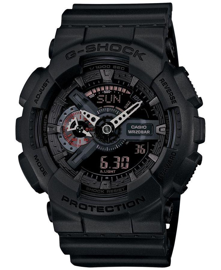 G-Shock Men's Analog-Digital Black Resin Strap Watch 55x52mm GA110MB-1A