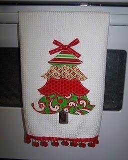 Applique Christmas Towel