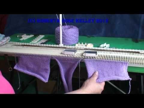 Round Baby Blanket on the Knitting Machine by Carole Wurst - YouTube