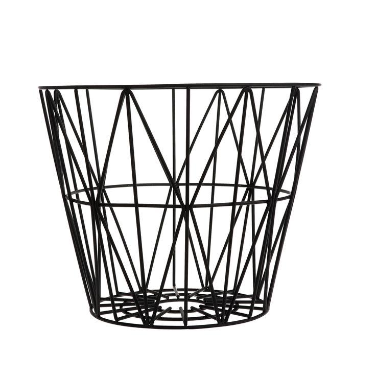 Multipurpose Wire Basket, Black, 3 Sizes