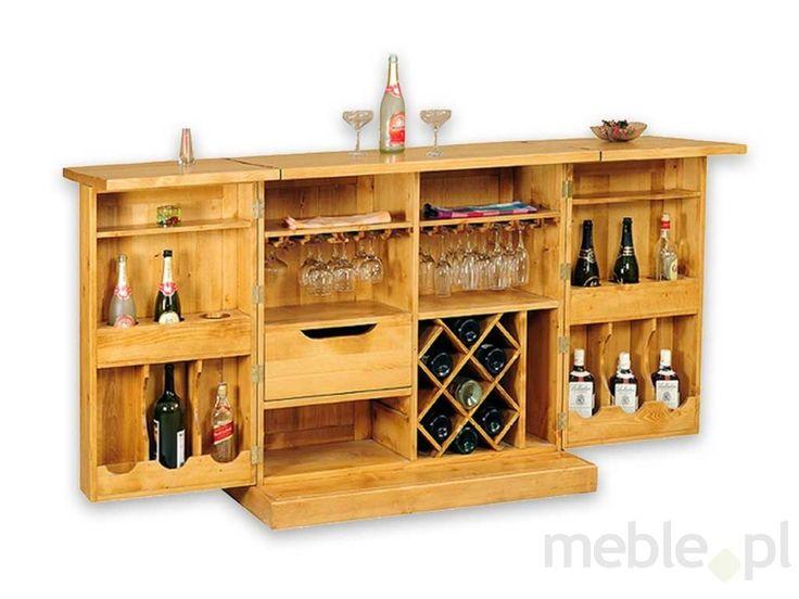 3160 Komoda na wino z drewna świerkowego Mexicana 1