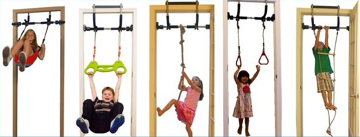 Gorilla Gym Kids with Indoor Swing, Plastic Rings, Trapeze Bar, Climbing Ladder, and Swinging Rope: Climb, swing, play all day in the comfort of your home.